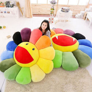 details about takashi murakami kiki ohaha rainbow flower plush cushion kaikai large pillow new