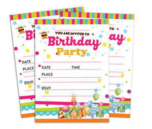 details about birthday invitation card 28 pcs blank invites printable party supplies ds in65a