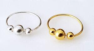 925 Silber Gold Nasenpiercing Nasenstecker Nasenring Stecker Piercing Ring Echt