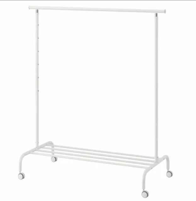 ikea rigga clothes rack height adjustable white