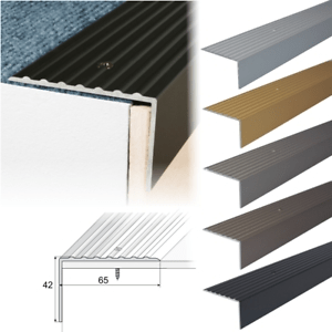 Aluminium Stair Nosing Edge Trim Step Nose Edging Nosings For | Carpet Stair Nosing Metal | Anti Slip Stair | Laminate Flooring | Edge Trim | Edging Nosings | Inserts