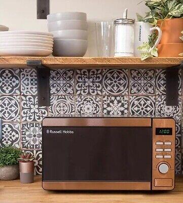 rose gold copper effect microwave digital display 800w kitchen appliance ebay