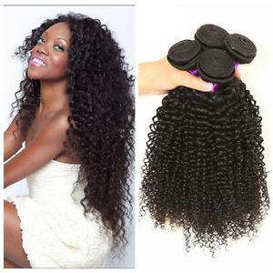 4 bundles kinky curly weave human hair extensions 100 unprocessed peruvian hair ebay