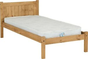 details about maya single 3ft solid distressed wax pine wood bed frame