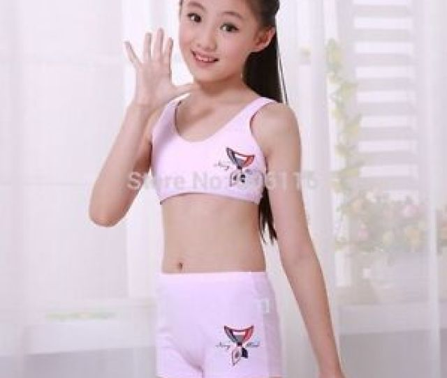 Image Is Loading Puberty Girl Cotton Soft Bra Pant Student Underwear