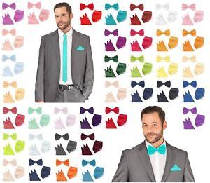 Fliege Krawatte Einstecktuch Set Hochwertig Hochzeit