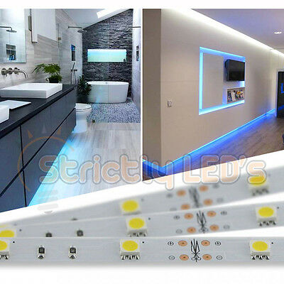 Blue Led Strip Lights 5050 Led Tape Strips Kitchen Under Cabinets Homes Ceiling Ebay