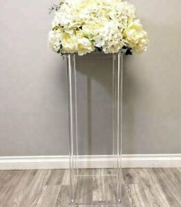 details about rectangle acrylic wedding flower stand for table centerpiece decoration 80cm