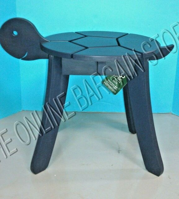 pottery barn kids outdoor indoor stool table chair wood turtle bench seat blue