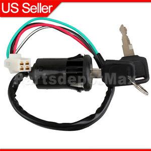 4Wire Ignition Switch Key 50cc 70cc 90cc 110cc 125cc ATV