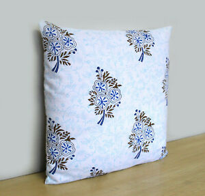 block printed cushion covers cotton