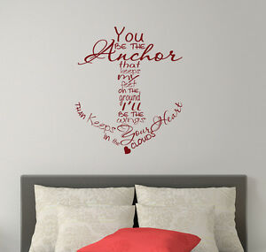 Anchor Wall Decals Family Quote Vinyl Stickers Nautical