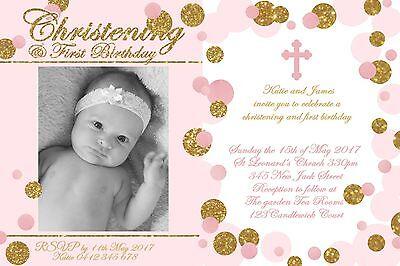christening invitation 1st birthday baptism naming day party invite digital file ebay