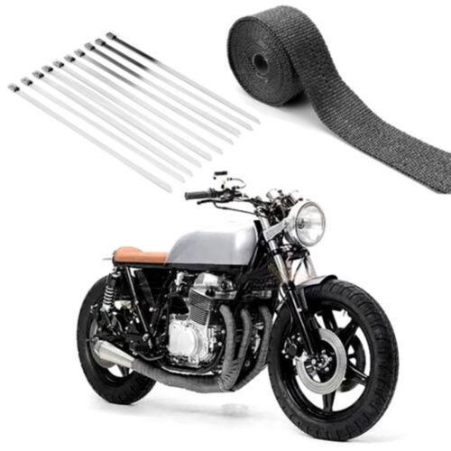 car parts 15m black titanium exhaust heat wrap motorcycle manifold tape thermal insulation tc media