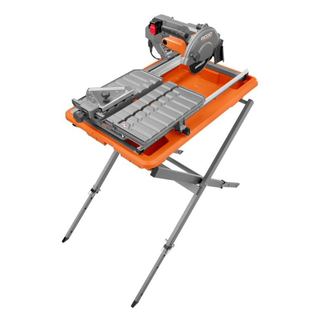 ridgid r4030s 7 in job site tile saw with laser