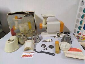 details sur moulinex multifonction robot jeannette hachoir rapes ancien vintage complet