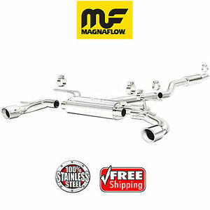 details about magnaflow cat back dual exhaust system 2014 2018 mazda 3 2 0l stainless 15294