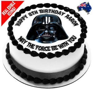 Star Wars Edible Icing Image Cake Topper Personalised Birthday Party Decoration Ebay