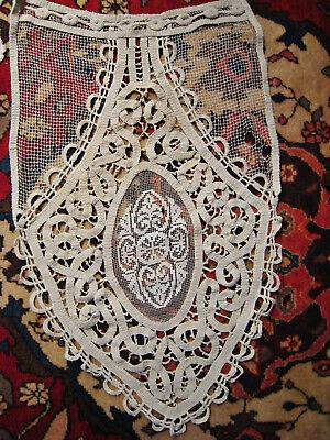 rideau brise bise anci macrame crochet dentelle au filet romantique a restaurer ebay