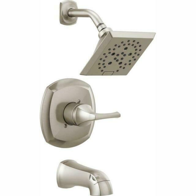 delta faucet 144770 sp monitor 14 series tub and shower faucet brushed nickel