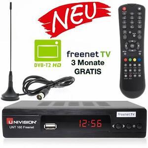 Univision Unt160 Digitaler Dvb T2 Receiver Mit Antenne Inkl 3 Monate Freenet Tv Ebay