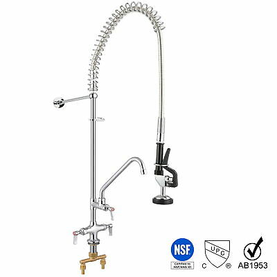 commercial pre rinse faucet pull out down sink kitchen with sprayer 12 add on 637509430511 ebay