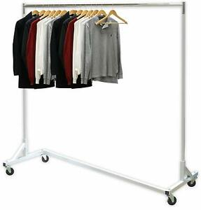 details about industrial garment clothing rack organizer 400 lbs capacity rolling ex long bar