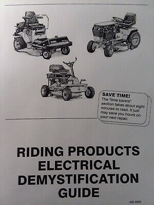 toro yard garden tractor electrical demystification wiring diagram manual  270h  ebay