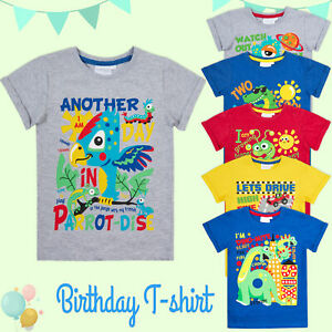 Kids Infant Boys Novelty Birthday T Shirt Tee Top Age 1 2 3 4 5 6 Years Old Gift Ebay