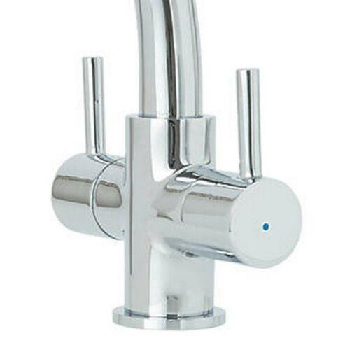 cooke lewis estatoah chrome effect kitchen twin lever mixer tap