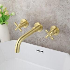 details sur robinet baignoire mitigeur salle de bain cascade mural laiton or brosse