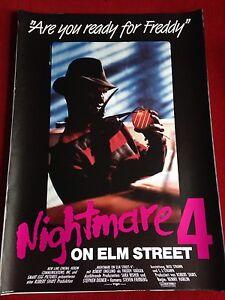 details zu nightmare on elm street 4 kinoplakat poster a1 freddy kruger robert englund