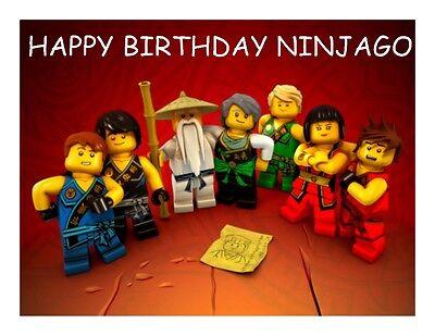 a4 dessin anime joyeux anniversaire ninjago comestible fondant gaufre fee cup cake toppers ebay