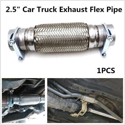 2 5 8 heavy duty car suv exhaust flex pipe stainless steel double braided ebay