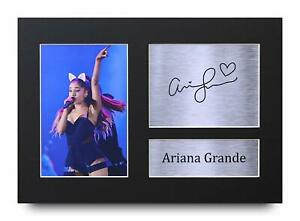 details zu ariana grande signed a4 framed printed autograph poster print music gift