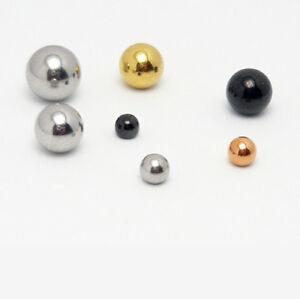 10 Stück Piercing Ersatzkugel Verschluss Kugel Ball Edelstahl Schraubkugel