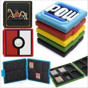 details sur pour nintendo switch game card case titulaire boite de rangement carry protecteur portable afficher le titre d origine