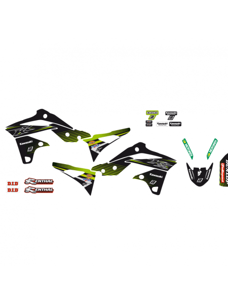 Adesivi grafiche Kawasaki Kxf 250 2013 2014 2015 2016 moto cross Racing Team