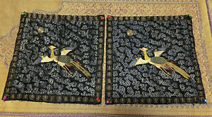 Fabulous Pair Of Antique Chinese Rank Badges Qing Period