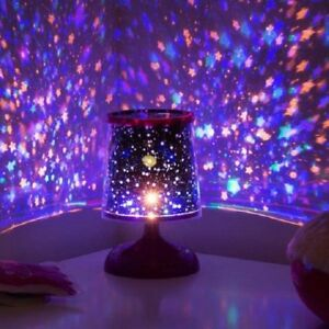 Starry Star Lamp Colourful Projection Light Mood Night Lights Childrens Room 5050341201135 Ebay