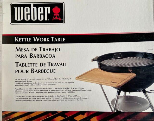 weber grill sidekick maple wood work table 1800 vintage 1981