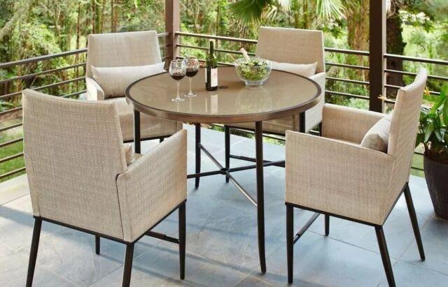 hampton bay aria patio high dining chairs 2 pack