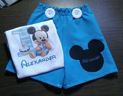 Baby Mickey Mouse First Birthday Outfit Set 12m 18m 24m Ebay