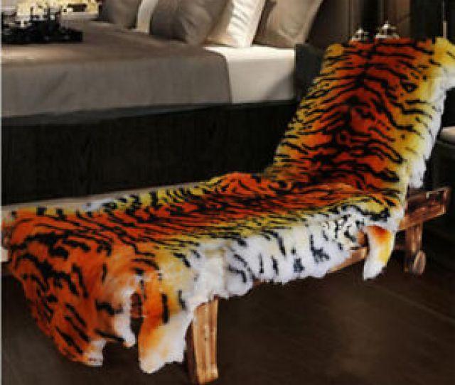 Image Is Loading Real Sheepskin Fur Australia Tiger Carpet Rug Soft
