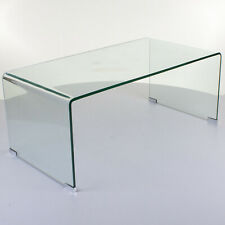 large curved glass coffee table bent transparent tempered dining living room