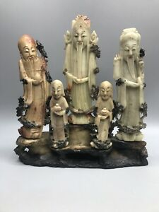 Carved Soapstone? Fu Lu Shou Asian Chinese Decor