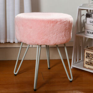 details about pink fluffy pouffe stool dressing table vanity chair with hairpin leg side chair