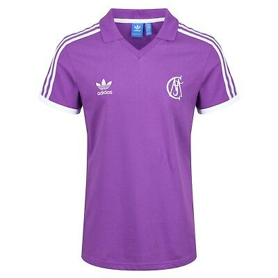 adidas ORIGINALS RETRO REAL MADRID JERSEY PURPLE FOOTBALL ...