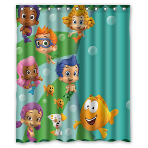 details about new bubble guppies bath waterproof bathroom shower curtain 60 x 72