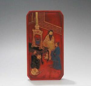 Signed Old Chinese Carved Cinnabar Red Ink Stick